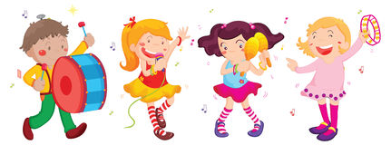 Performing children Royalty Free Stock Photo