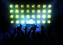 Performing dj 3d Royalty Free Stock Image