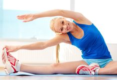 Performing exercise Royalty Free Stock Photos
