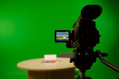 Performing live greenscreen Stock Photography