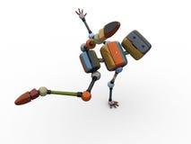 Performing Robot. 3D render of a robot dancing Stock Photos