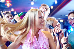 Performing song Stock Images