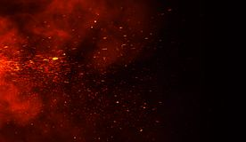 Free Perftect Fire Particles Embers On Background . Smoke Fog Misty Texture Stock Image - 140291911