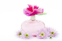 Perfum and chrysanthemum Royalty Free Stock Photos