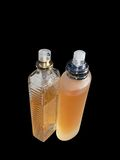 Perfume. Two perfume bottle. Isolated on black Royalty Free Stock Image