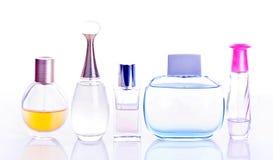 Perfume. Bottles isolated on white background Royalty Free Stock Photography