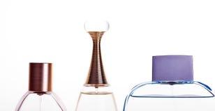 Perfume. Bottles isolated on white background Royalty Free Stock Image