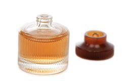 Perfume. Isolated on a white royalty free stock photography