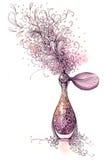 Perfume. Nice aroma of perfume (Cbm painting Royalty Free Stock Image