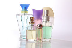 Perfume. Bottles of perfume. perfect for female magazines and commercials Royalty Free Stock Photography