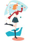 Perfume. Illustration of youg girl with perfume Royalty Free Stock Images