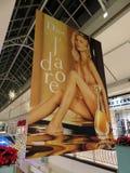 Perfume Ad at a Shopping Mall in Virginia royalty free stock photos