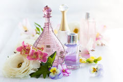 Perfume And Aromatic Oils Bottles Royalty Free Stock Image