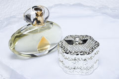 Perfume And Jewellery Box Royalty Free Stock Photography