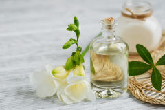 Perfume and aromatic oil Stock Images