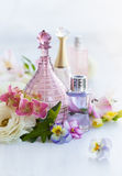 Perfume and aromatic oils bottles Stock Photography