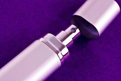 Perfume atomizer. A close up of an opened perfume atomizer royalty free stock photos