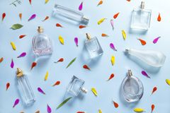Perfume background stock illustration
