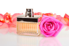 Perfume in a beautiful bottle Royalty Free Stock Photo