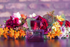 Perfume in beautiful bottle Royalty Free Stock Photography