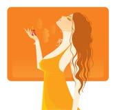 Perfume beautiful girl. Vector illustration Stock Photos