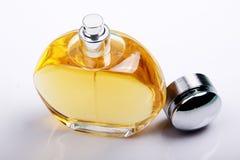 Perfume bottle. A bottle of top-grade perfume on grey white gradation background Stock Image