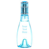 Perfume bottle. A light blue ice perfume bottle isolated on white. The perfect white inside allow to add free text Royalty Free Stock Images