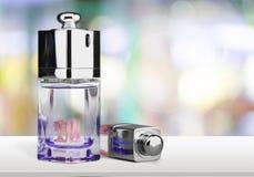 Perfume. Bottle Cosmetics Packaging  Merchandise White Stock Photo