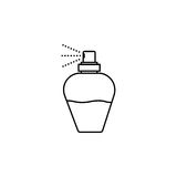 Perfume Bottle. Eps-10. Mother with baby line icon, mother`s day, mom holding a baby vector graphics, a linear pattern on a white background, eps 10 Vector Illustration