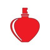Perfume bottle. Flat icon illustration EPS 10 Royalty Free Stock Photo