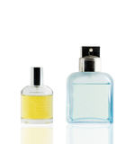 Perfume bottle isolated white background, use clipping path. Stock Photography
