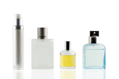 Perfume bottle isolated white background, use clipping path. Royalty Free Stock Images