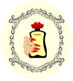 Perfume bottle original design Royalty Free Stock Photos
