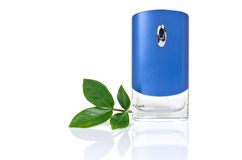 Perfume bottle over white Stock Photography
