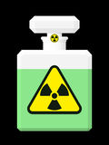 Perfume bottle with radioactive s Stock Image