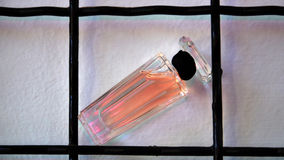 pink Perfume in a bottle  Stock Photography