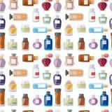 Perfume bottle seamless pattern. Stock Photo