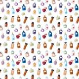 Perfume bottle seamless pattern. Royalty Free Stock Image
