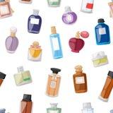 Perfume bottle seamless pattern Royalty Free Stock Photos