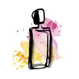 Perfume bottle sketch. Stock Photo