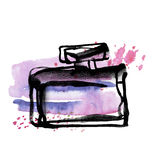Perfume bottle sketch. Royalty Free Stock Images