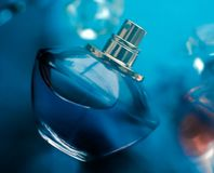 Free Perfume Bottle Under Blue Water, Fresh Sea Coastal Scent As Glamour Fragrance And Eau De Parfum Product As Holiday Gift, Luxury Royalty Free Stock Photography - 163818917