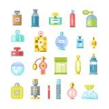 Perfume bottle vector icons Stock Image