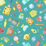 Perfume bottle vector set. Set of vector perfume fashion container smell spray. Vector illustration perfume shop symbols elegant merchandise gift Royalty Free Stock Photos