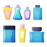 Perfume bottle vector set. Stock Photography