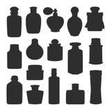 Perfume bottle vector set. Stock Images