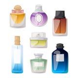Perfume bottle vector set. Stock Photos