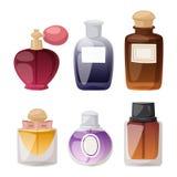 Perfume bottle vector set. Royalty Free Stock Image