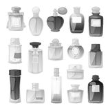 Perfume bottle vector set. Royalty Free Stock Photos