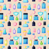 Perfume bottle vector set. Royalty Free Stock Images